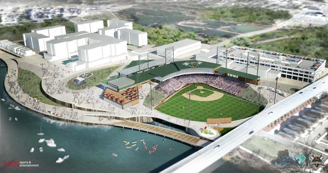 Rendering of Greenstone's The Ballpark at Hammonds Ferry - planned for N. August, GA