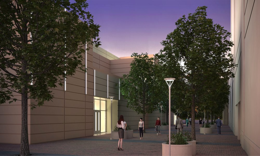A static rendering of where the pixel bars will be placed. Courtesy Greater Boise Auditorium District.