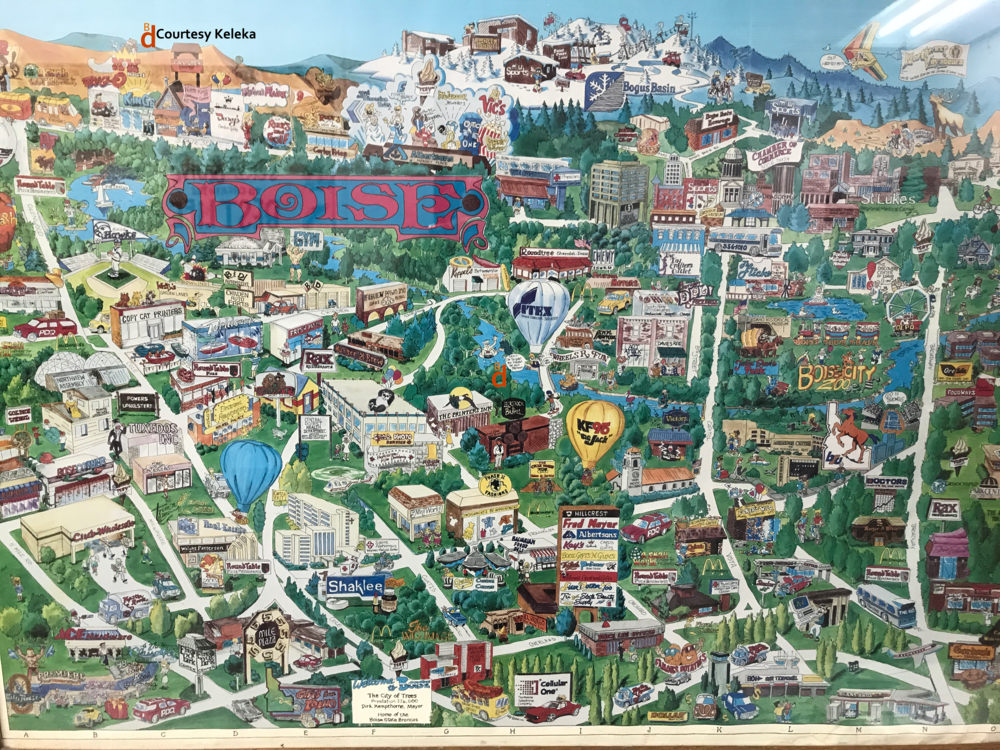Cartoon map gives glimpse of early 1990s Boise BoiseDevcom