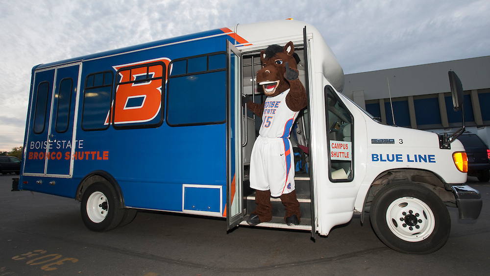 The Boise State Shuttle has two routes during the school year which run every fifteen minutes between campus and downtown. Photo courtesy Boise State.
