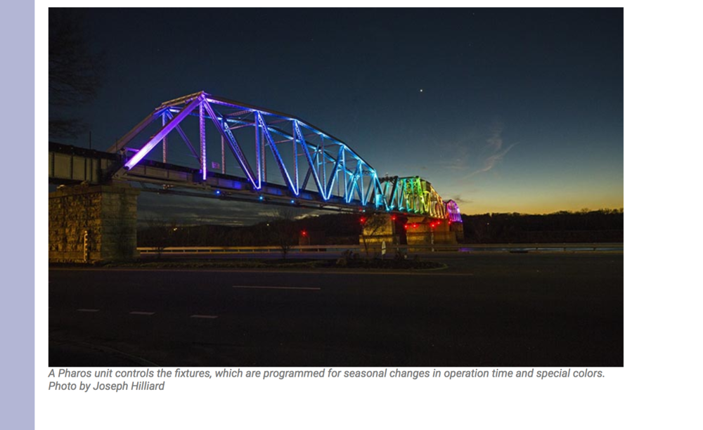 PLSM.com screenshot. CCDC cited this bridge in Clarksville, TN as a model for the work to happen on 8th St. in Boise