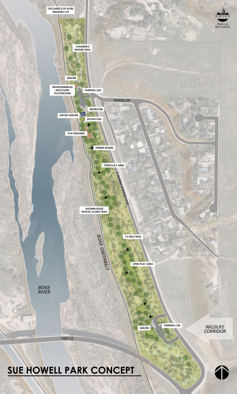 Sue Howell Park plan via City of Boise.