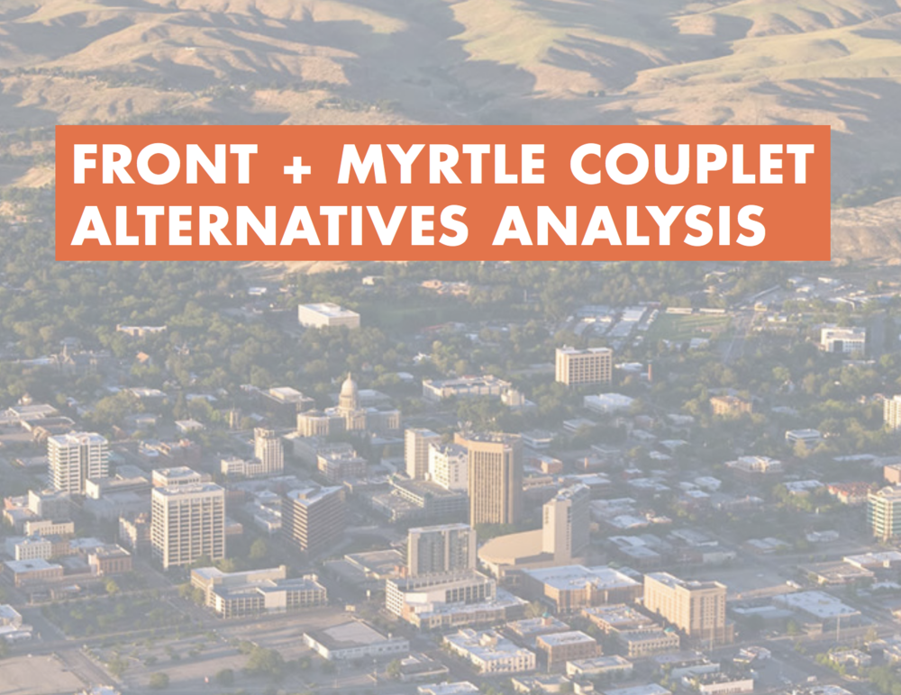 Cover page of the Front & Myrtle Alternatives Analysis