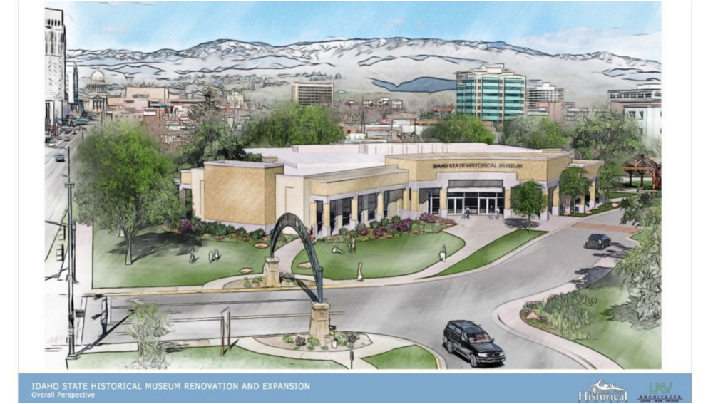 Rendering of updated Idaho State Museum