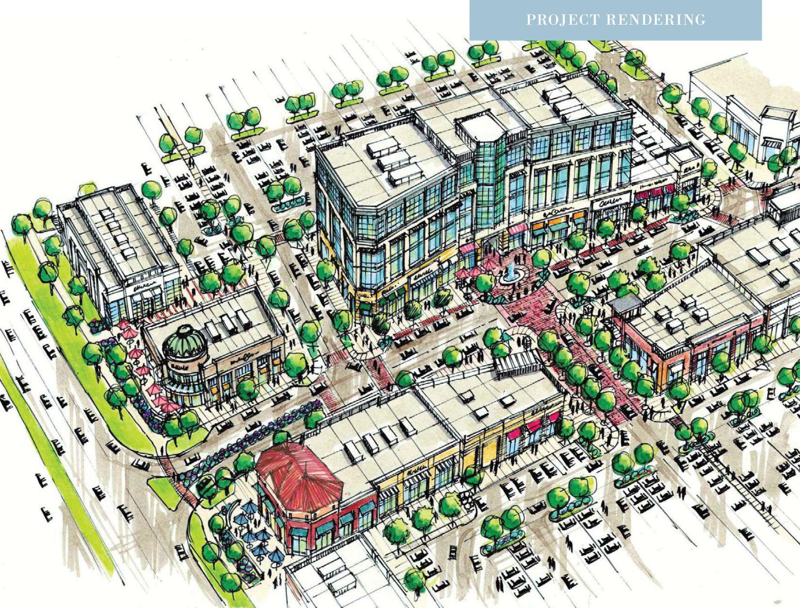Artist's rendering of Village at Meridian expansion