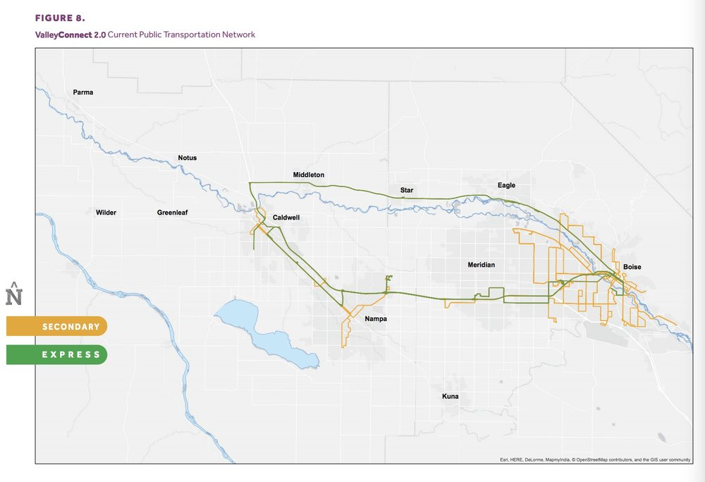 Map shows current network. Via Valley Regional Transit. Click to enlarge.
