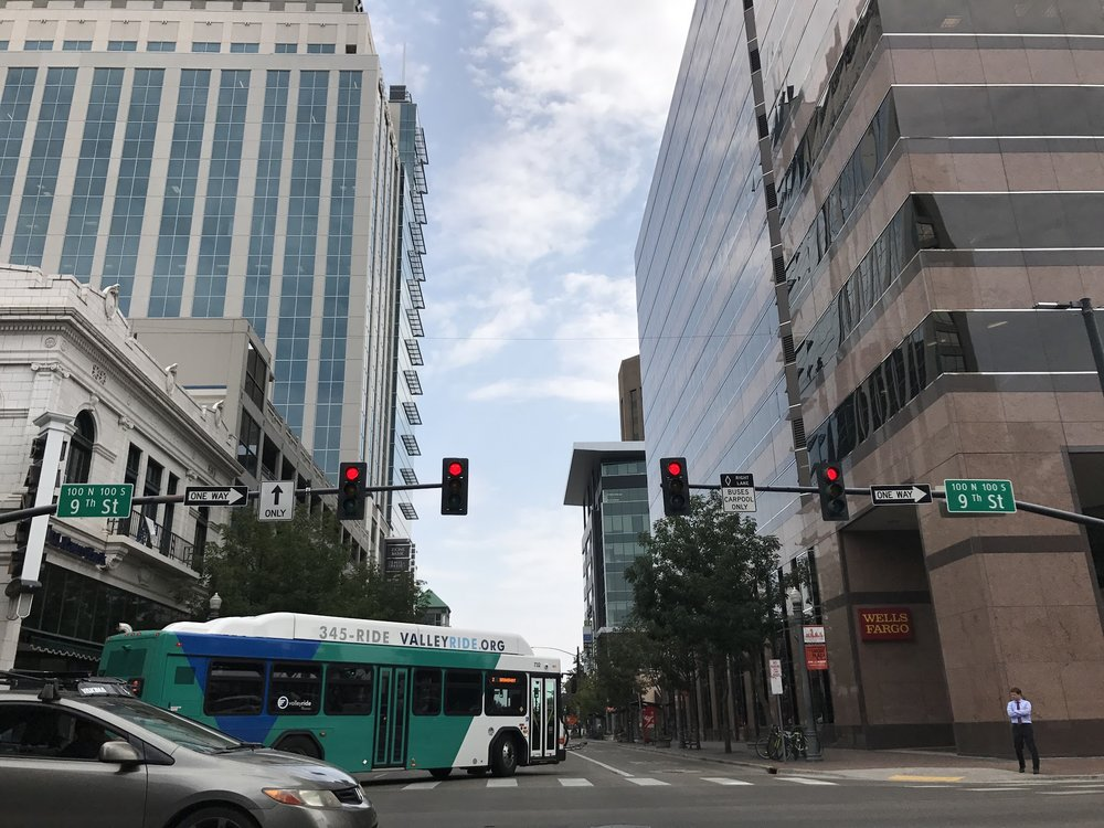A ValleyRide bus turns on the Main Street in Boise last summer. If Valley Regional Transit autorities get their way, many more buses will roll down local streets.