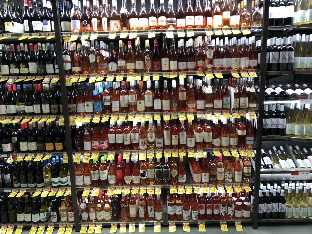 Wall of rosé. Photo: Don Day/BoiseDev