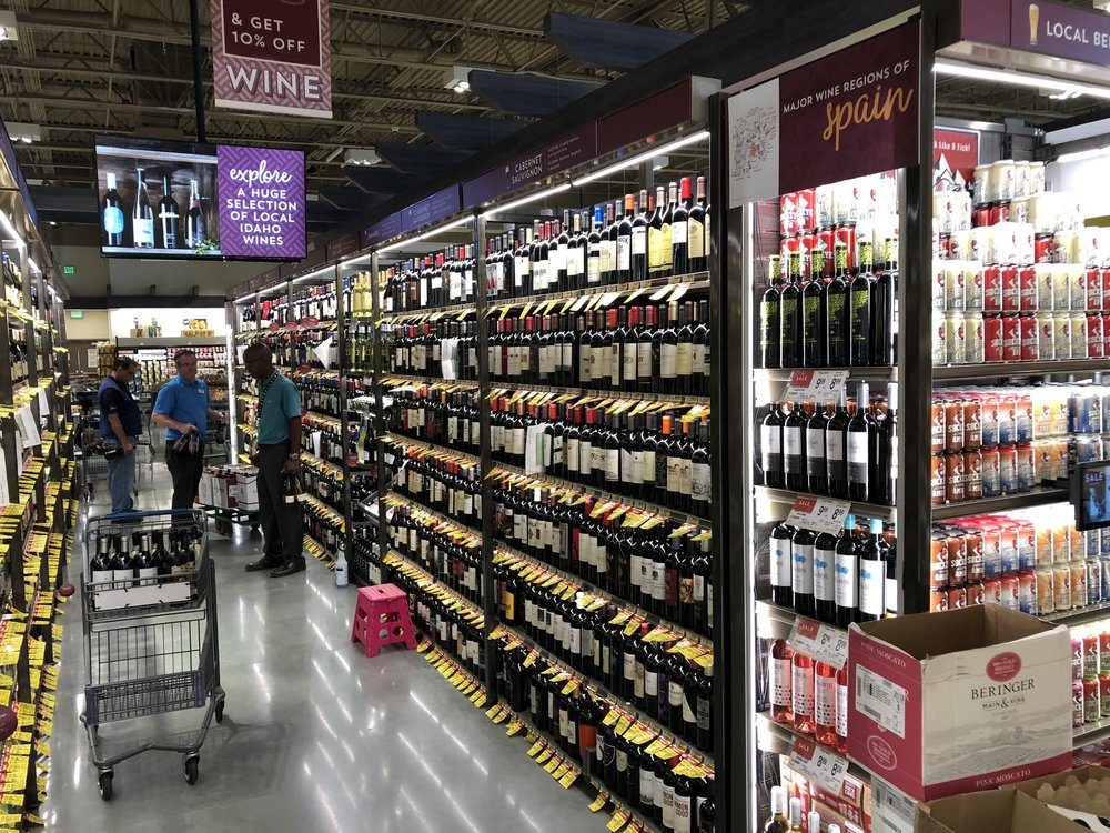 A portion of the beer and wine selection
