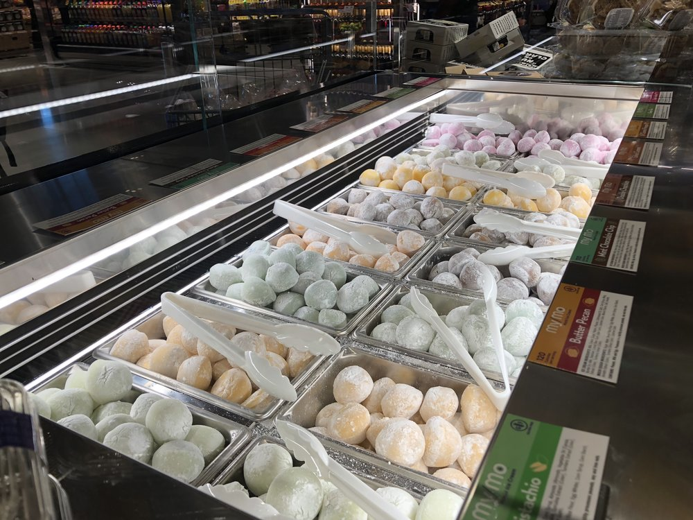 Mochi ice cream selection