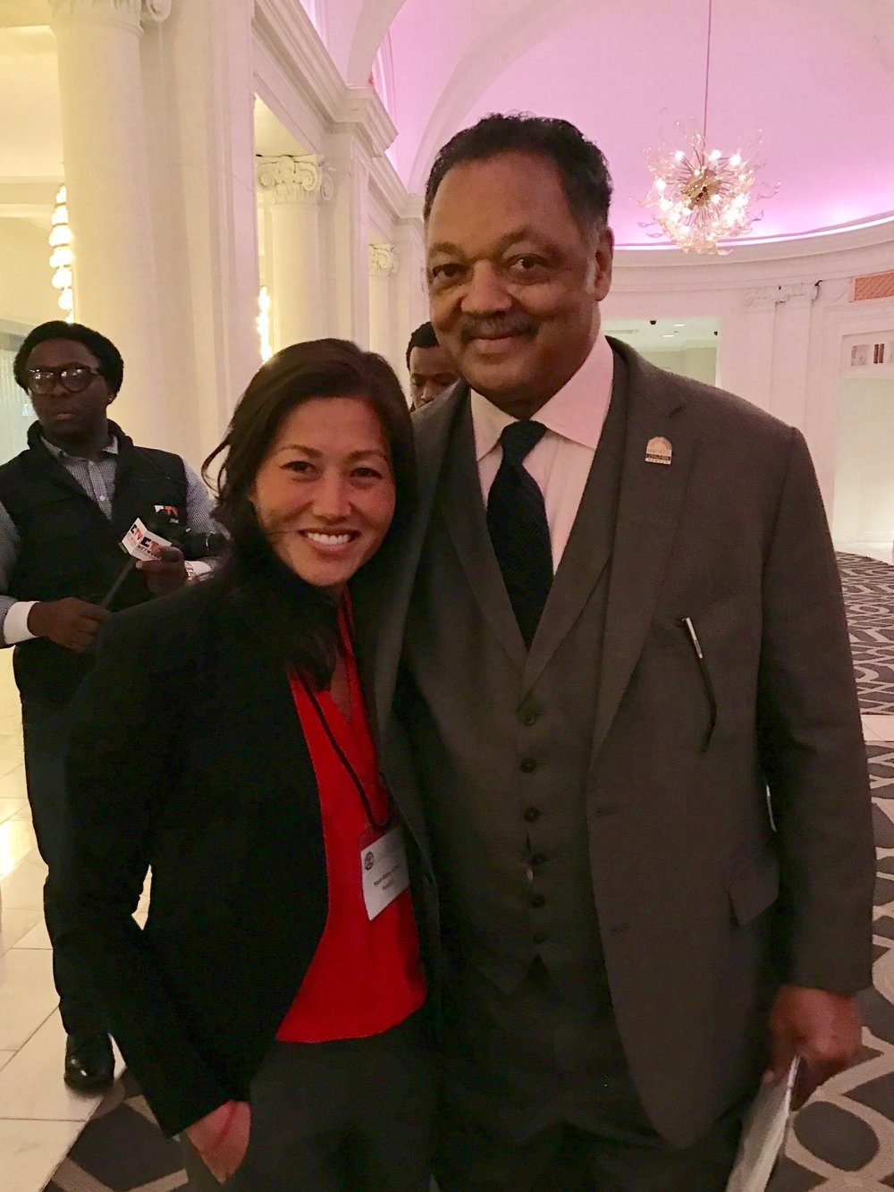 Bonding moment with @RevJJackson @WallStreetProj while presenting on evolution of healthcare at the 20th Annual Wall Street Summit