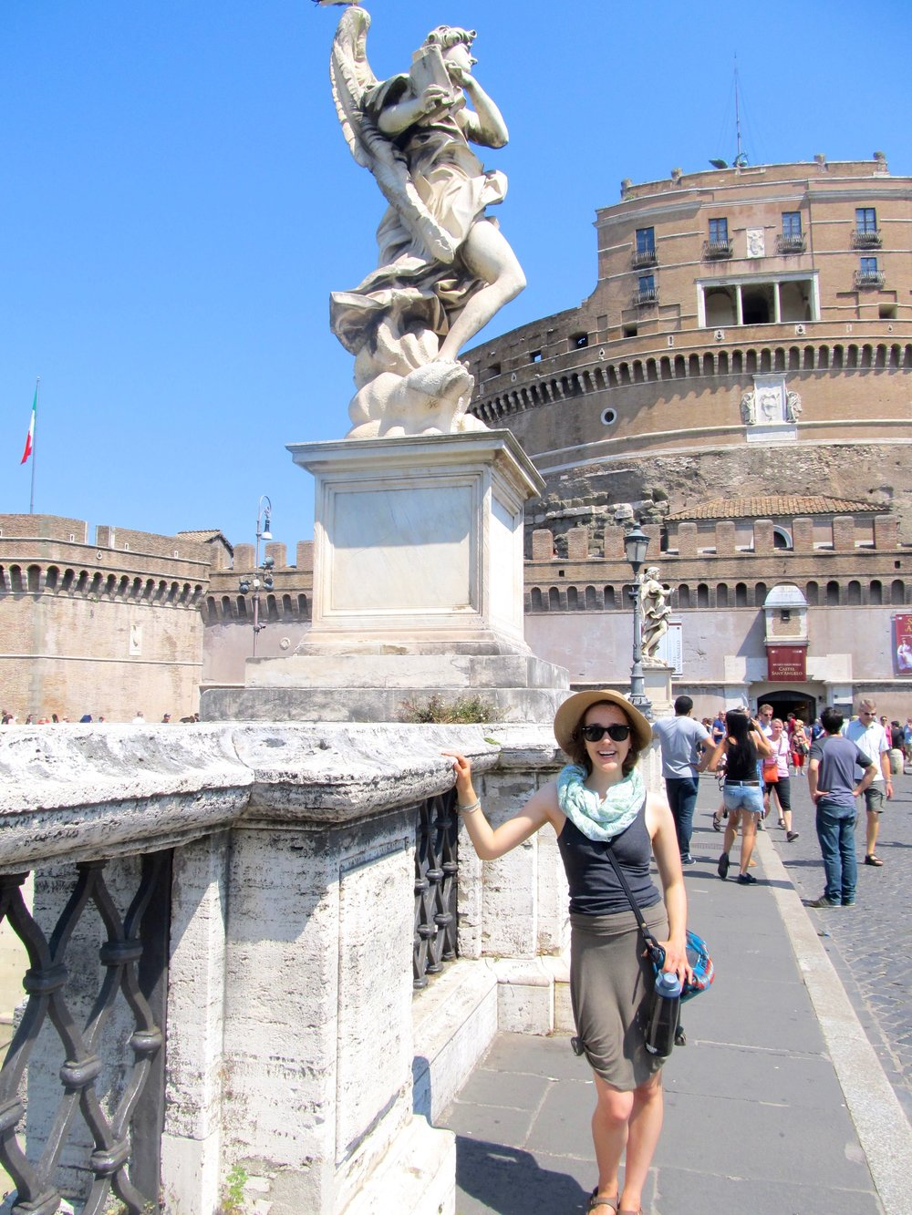 In front of the Castello di Sant'Angelo
