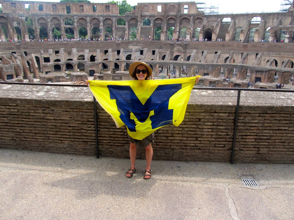 Representing UofM in the Colosseum- Go Blue!
