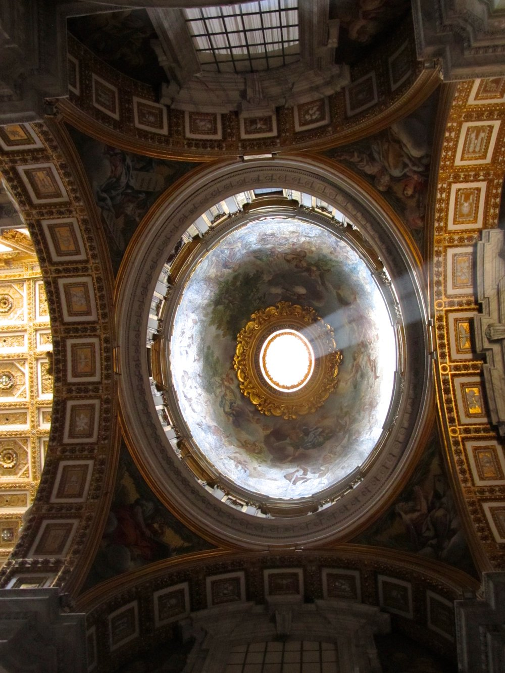 Light steaming into St. Peter's Basilica