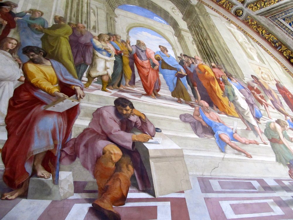Rafaelle's School of Athens in the Vatican Museums