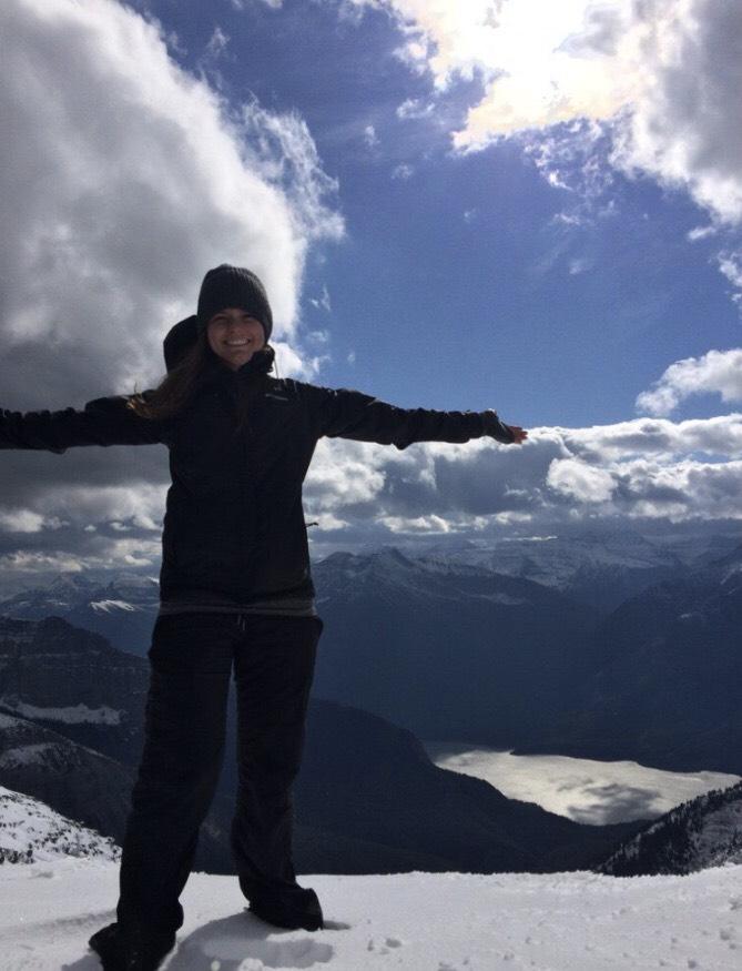 Ambassador Tiffany summiting a snowy peak! Follow her on instagram @stufftiffdoes