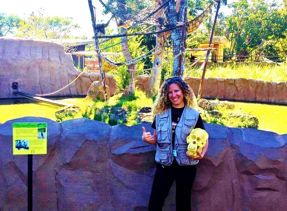 Volunteering with primates at the Honolulu Zoo, Hawaii