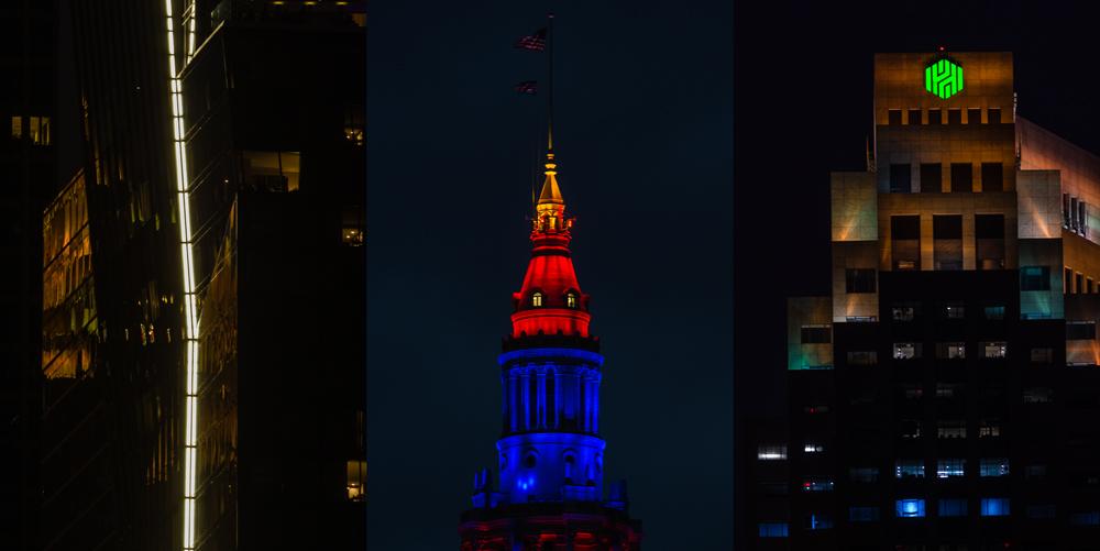 Skyline architecture, Cleveland, 2016.