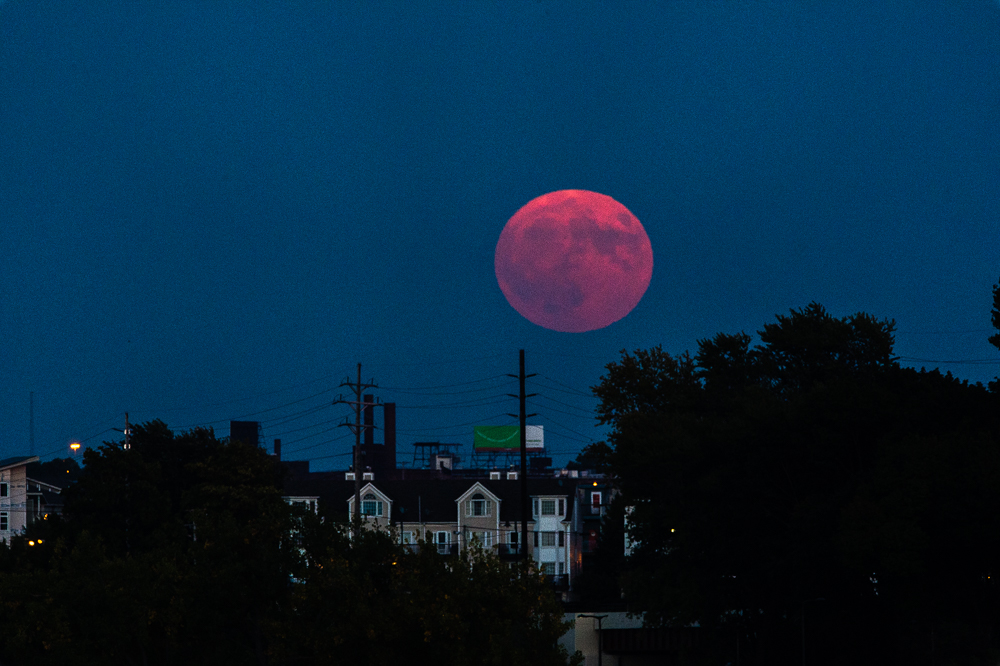 """Hunter's Moon"" supermoon eve, Cleveland, 2016."