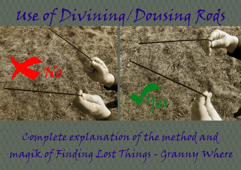Uses of Divining/Dousing Rods