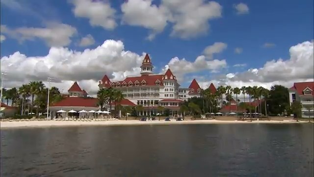 Still of Grand Floridian in more peaceful times, from B-Roll of Resorts at Walt Disney World in Florida