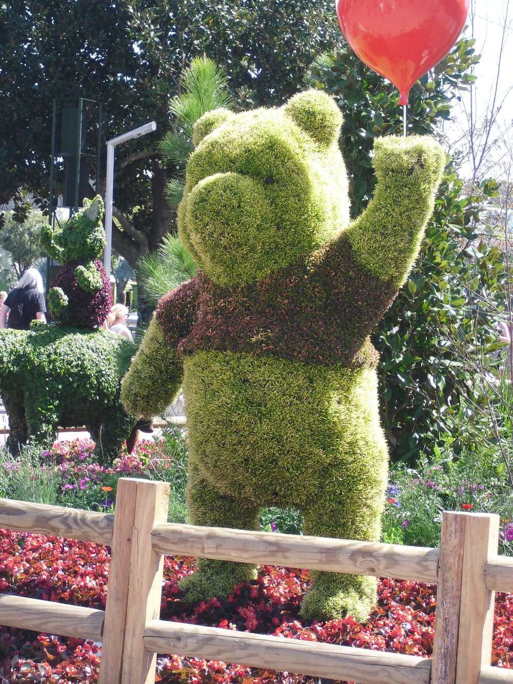 Winnie The Pooh topiary at Epcot's Food and Wine Festival, Epcot, WDW, Florida -from author's collection