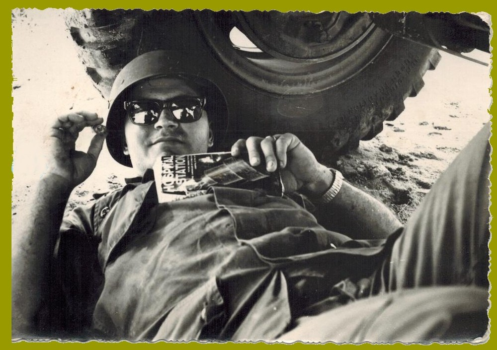 My dad, James W. Wright while a young Soldier in Vietnam, rank unknown as of this photo