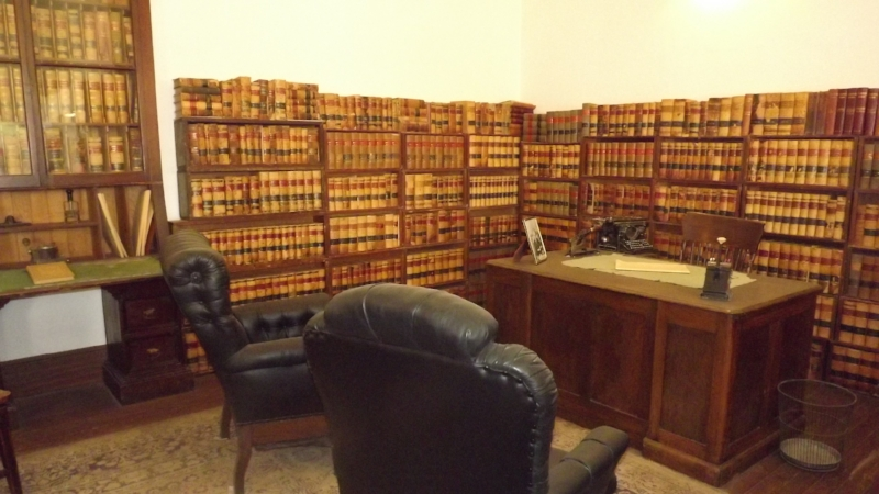 Lawyers' office at Tombstone Courthouse Museum, Tombstone, AZ -collection of the author