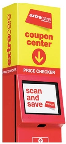CVS price checker and loyalty card kiosk in use today