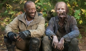 "But I said, ""I only eat organic certified cheese."" Morgan Jones (Lennie James) - The Walking Dead - Season 5  - Photo Credit: AMC/Facebook"