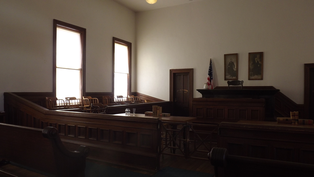 Courtroom on 2nd Floor of Tombstone Court House National Park - author's collection