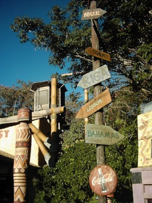 World Sign by the Outpost, Walt Disney World, Florida, 2006 - author's collection