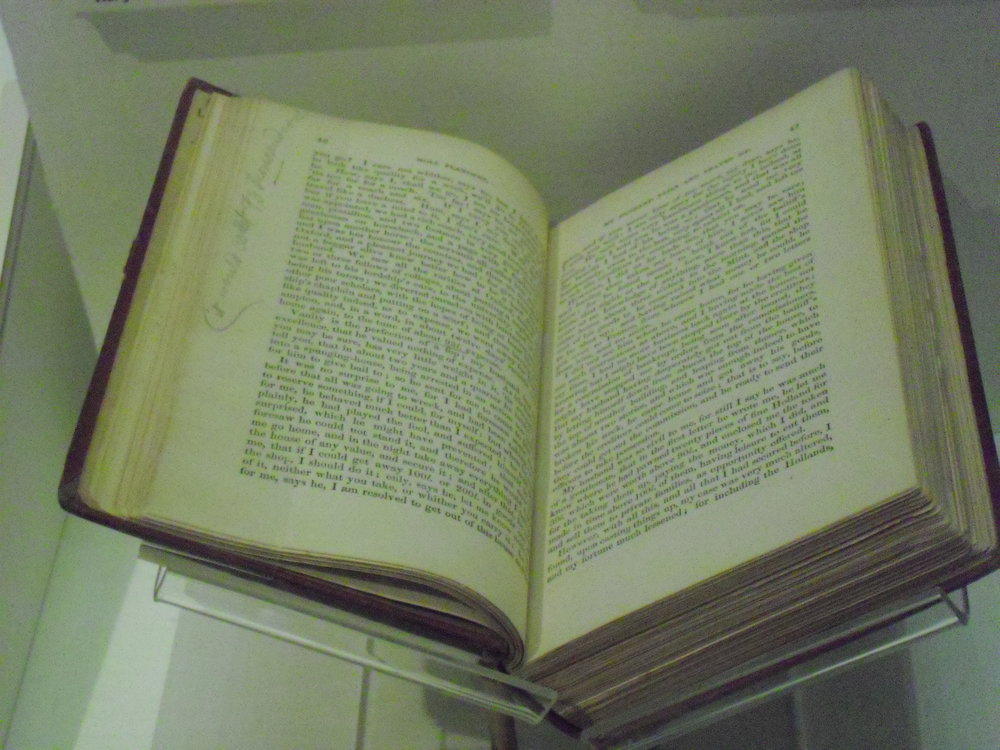 Previously banned book on display at The American Experience, Epcot, Walt Disney World, Florida