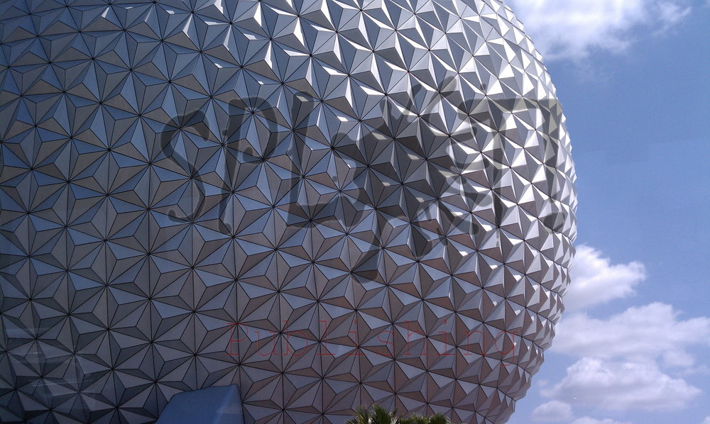 Spaceship Earth close up - Splot! Publishing, 2006