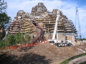 Expedition Everest under construction - author's collection