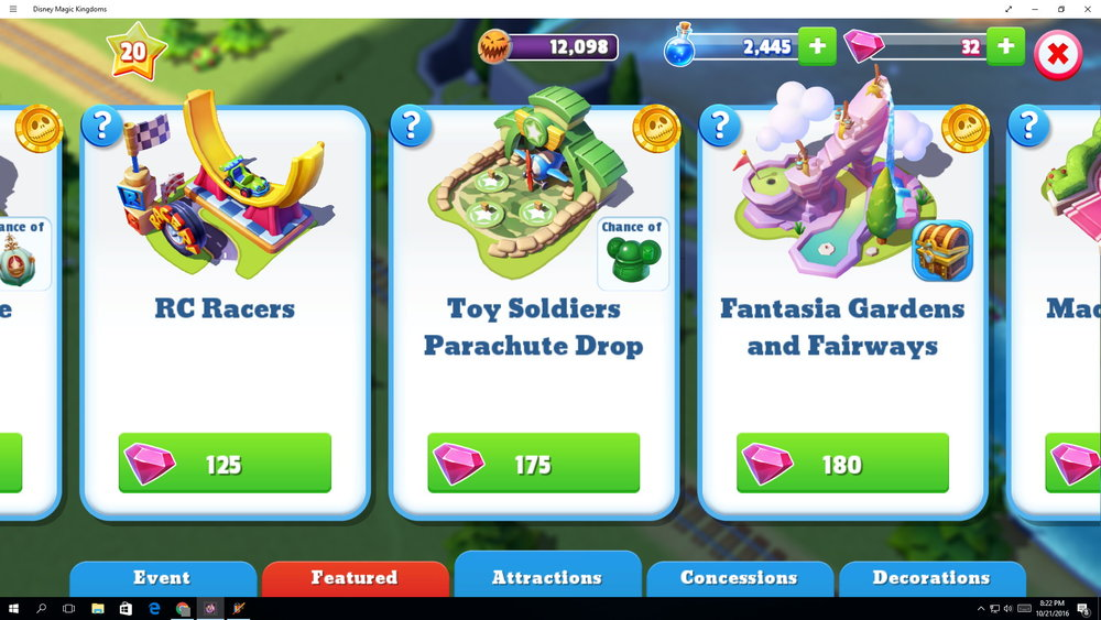 You need a lot of gems to buy most anything. The cheapest items are 35 gems. Some items cost thousands.