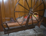 Spinning Wheel, Liberty Tree Tavern, Magic Kingdom, WDW - Author's collection