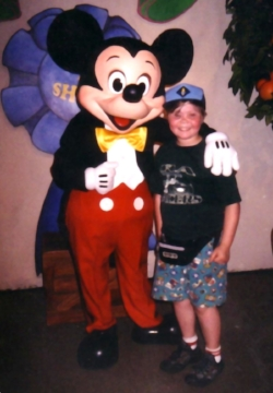 Mickey Mouse in Toon Town Fair, 2001 with author's son
