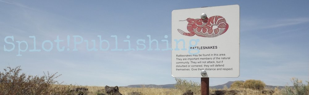 A rattlesnake warning sign near visitor center at El Malpais State Park, NM - From author's collection
