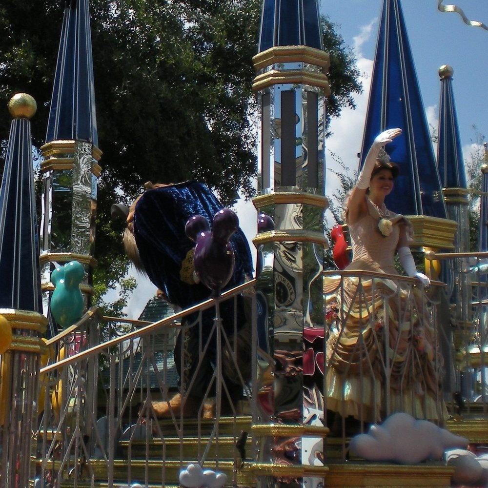 Celebrate Today Beauty and the Beast float.JPG
