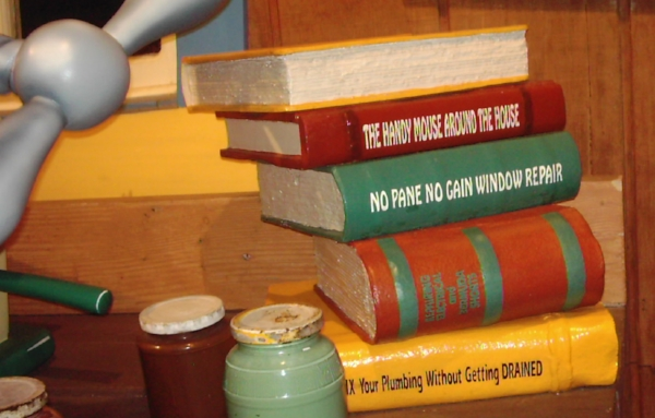 """Books"" on display at Mickey's House, Magic Kingdom circa 2004"