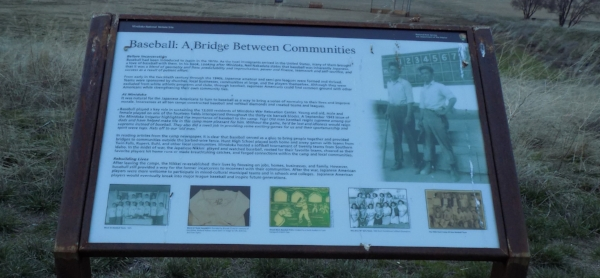 "Info board at Minidoka, ""Baseball: A Bridge Between Communities"""
