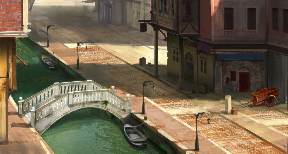 Canals in a merchant district, by Jordan Grimmer