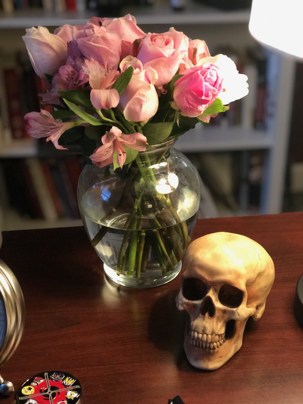 Momento Mori with flowers from Gaudete.