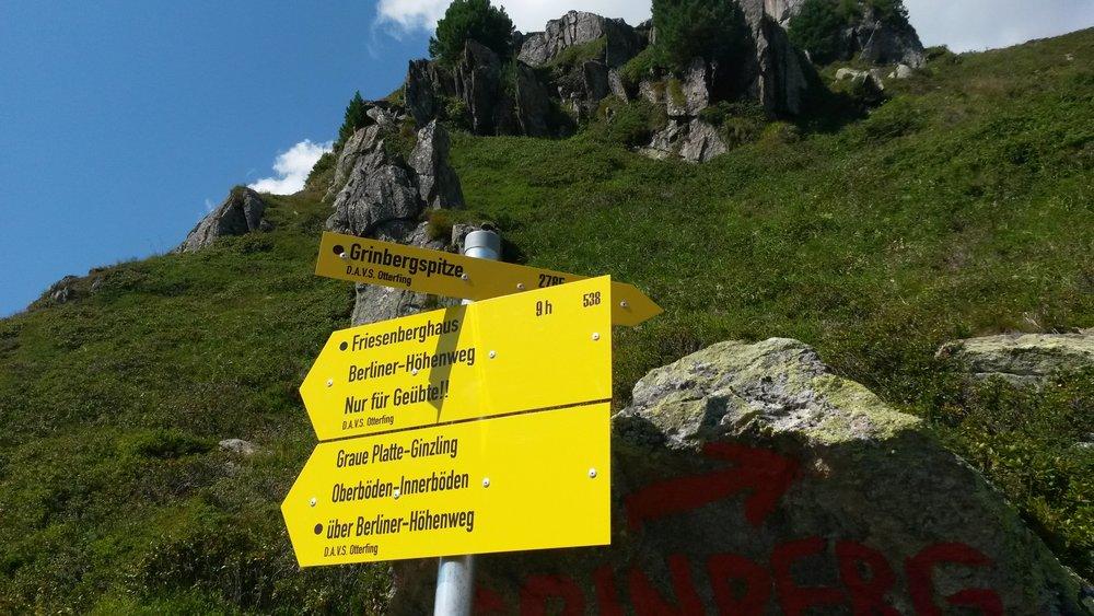 Richtung Grinberg