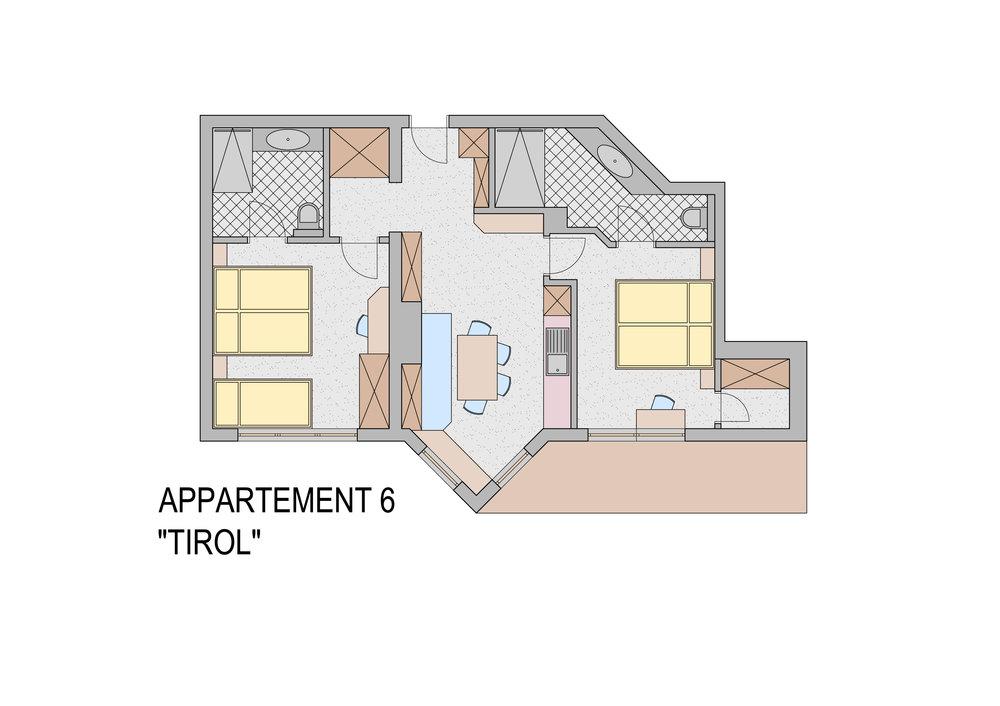 """Grundriss Appartement """"Tirol"""""""
