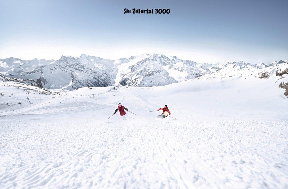 Ski Zillertal 3000 Abfahrt