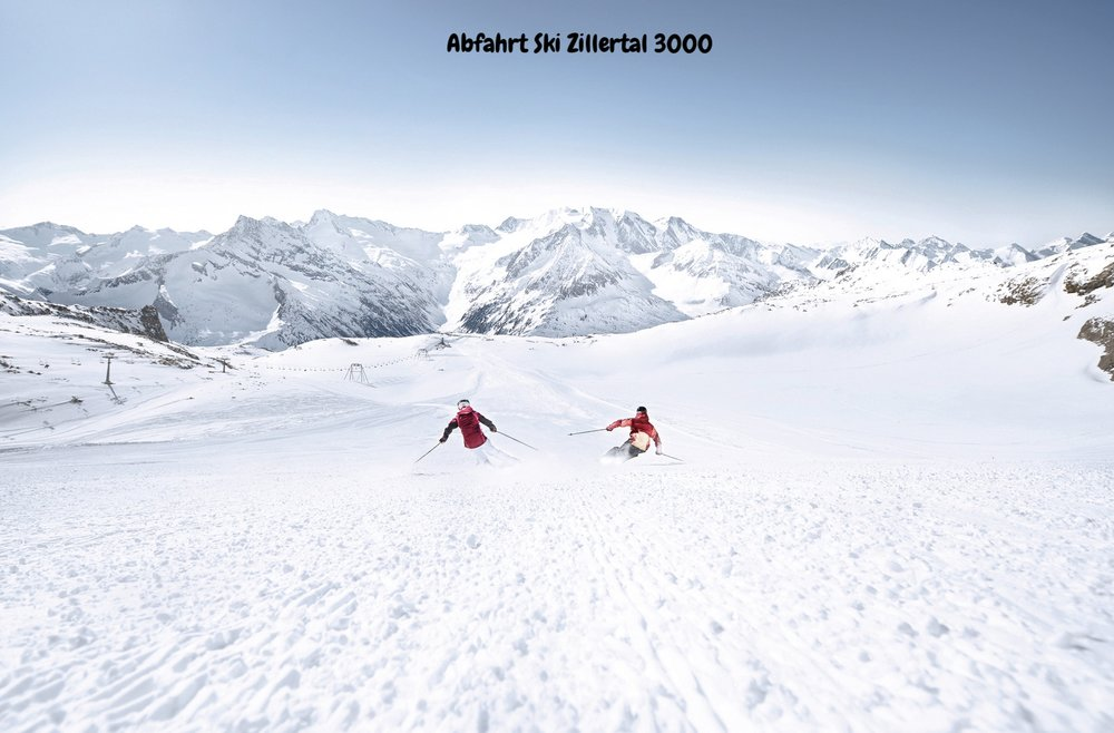 Abfahrt Ski Zillertal 3000
