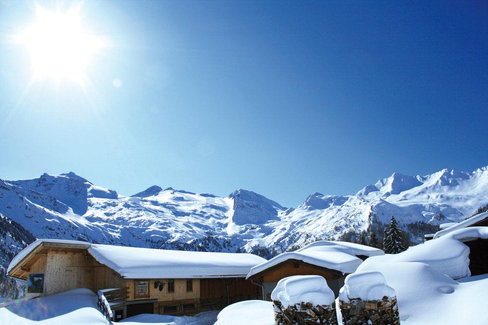 Berge voller Schnee