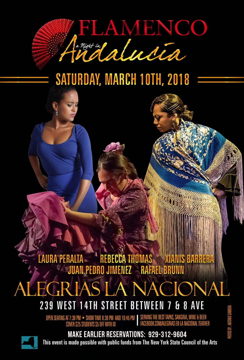 LAS MUJERESSaturday, March 10 - 8:30 & 10:45pmAlegrias en la nacional239 west 14th street, ManhattanINFO -